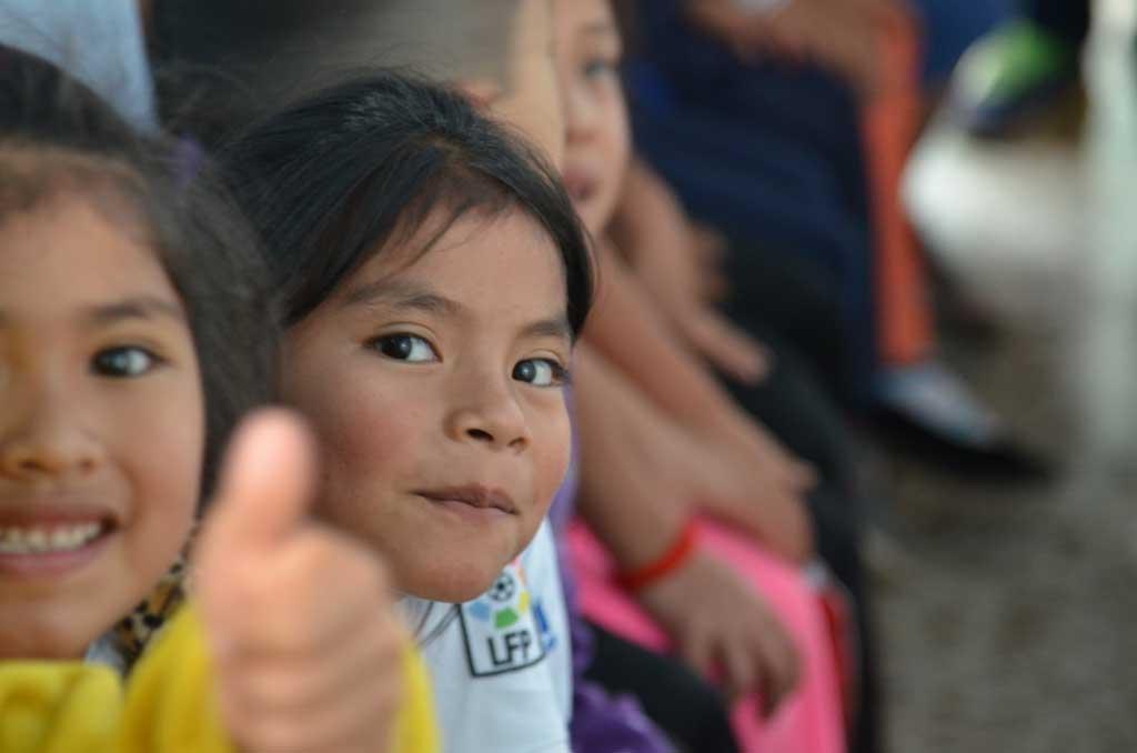 Los niños y niñas del centro Manos Amigas
