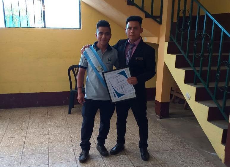 Jose Enrique Cumes and Carlos Gustavo Velasquez graduation at Manos Amigas Guatemala